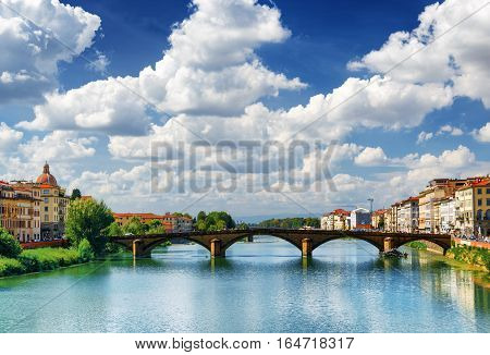 View Of The Ponte Alla Carraia Over The Arno River, Florence
