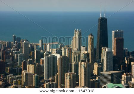 Chicago Aerial View, Hancock Center