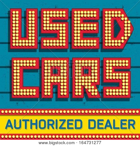 Used cars Authorized Dealer banner design vector illustration