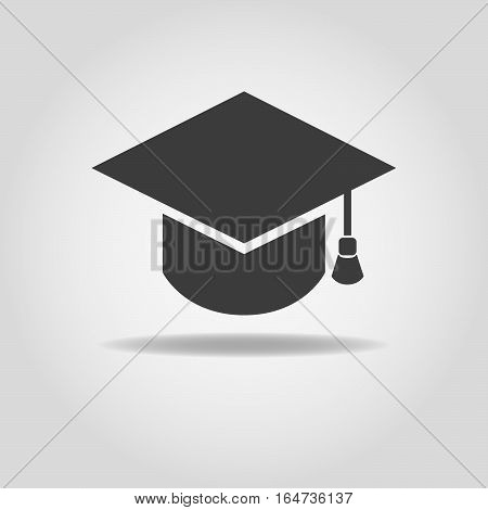 Graduation cap icon. Graduation cap vector image.