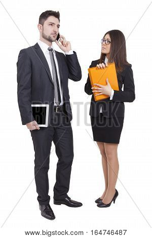 Businesswoman And Businessman Meeting