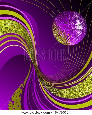 Shiny disco ball.