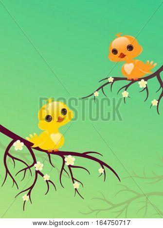 Pretty birds. Cute baby animals.