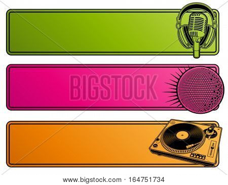 Abstract party design. Banners. Vector illustration.