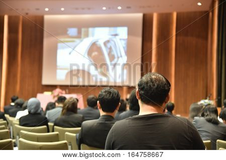 Blurred Image Of Education People And Business People Sitting In Conference Room For Profession Semi