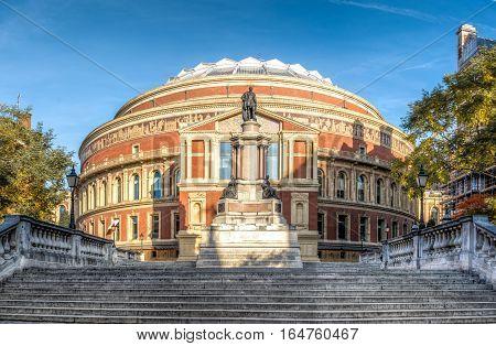 The royal Albert hall in South Kensington London UK