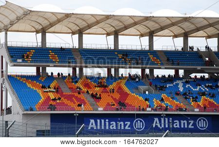 ISTANBUL/TURKEY-MAY 8, 2011 : Istanbul Park Circuit and grandstand of Formula One.
