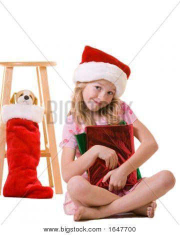 Little Girl On Christmas