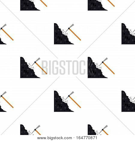 Pickaxe icon in cartoon style isolated on white background. Mine pattern vector illustration.