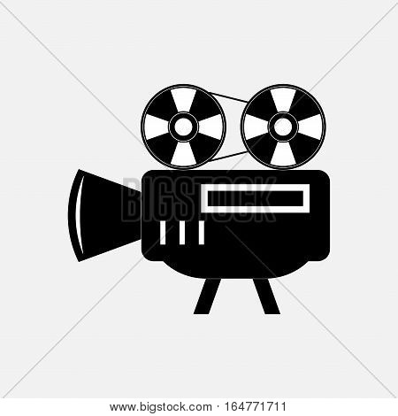 icon video camera, films, fully editable vector image