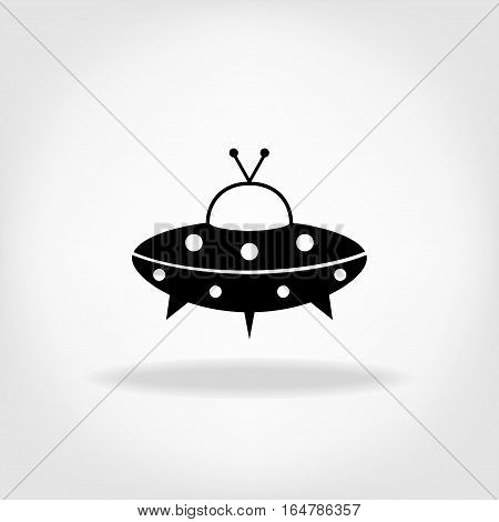 UFO Icon. UFO Flying Saucer Icon. Unknown flying object
