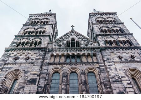 The west towers of Lund Cathedral. Twin towers calld: