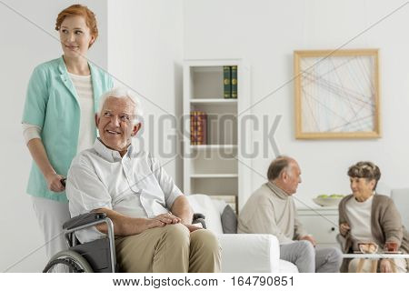 Common Room At Nursing Home
