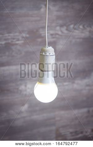 Light bulb isolated on the grey background