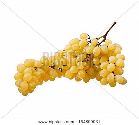 Fresh grapes isolated on white background, fruits.
