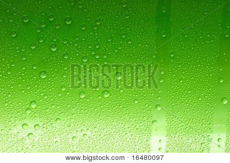 green water drops for background
