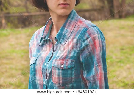 Girl In Plaid Shirt.