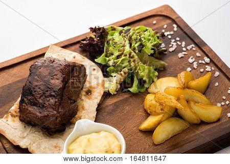 Roast Beef On A Pita.