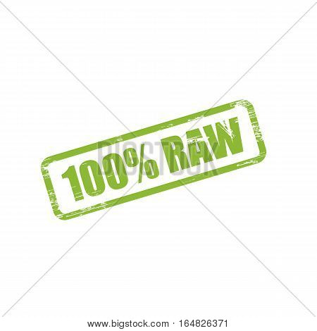 Raw grunge stamp sign vector. Color is easily changed.