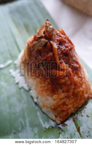 Traditional Food In Malaysia Named Nasi Lemak