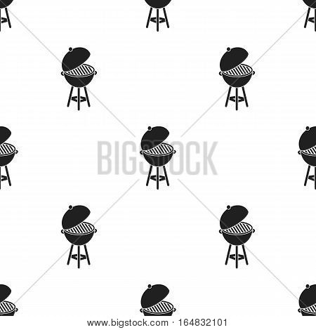 Barbecue icon in black style isolated on white background. Patriot day pattern vector illustration.