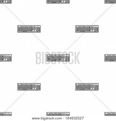 Keyboard icon in black style isolated on white background. Personal computer pattern vector illustration.