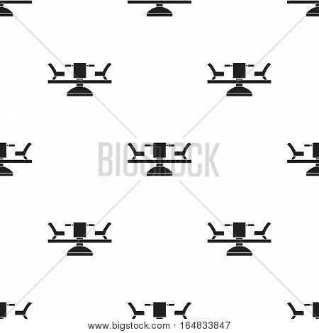 Carousel icon in black style isolated on white background. Play garden pattern vector illustration.