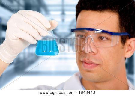 Scientist In A Science Laboratory