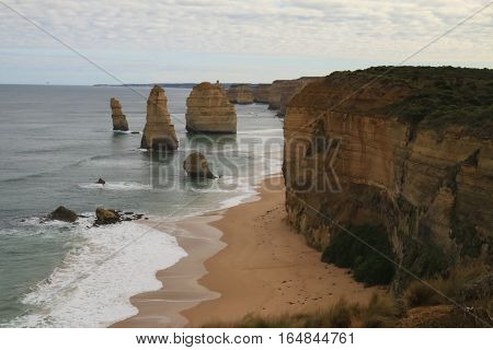View of the magnificent Twelve Apostles along the Victorian Coastline