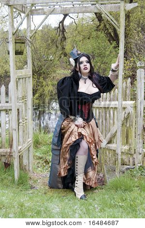 Steampunk Model Outdoors
