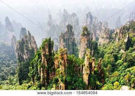 Top View Of Natural Quartz Sandstone Pillars (avatar Mountains)