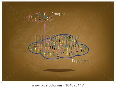 Business and Marketing or Social Research The Process of Selecting Sample of Elements From Target Population to Conduct A Survey on Green Chalkboard.