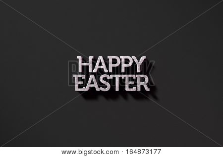 Happy Easter Text On Black