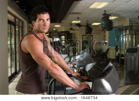 Man Exercising On Treadmill 4