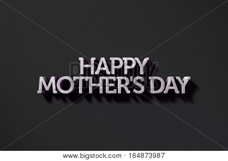 Happy Mothers Day Text On Black