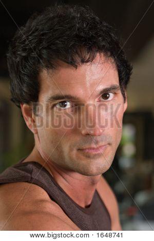 Portrait Of Man Exercising 2