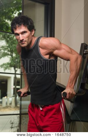 Man Exercising Arm Muscles 1