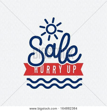 Summer sale logo clearance element vector badge isolated. Some shopping big mega discount hand drawn label. Vector comic speech bubble sticker promotion.
