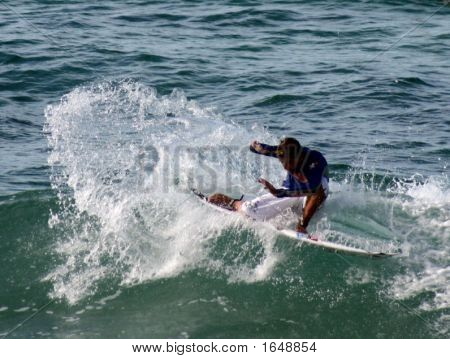 Surfboard ridingfull of thrills spills