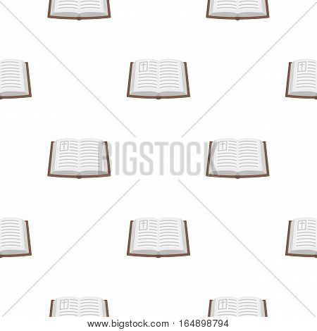 Bible icon in cartoon style isolated on white background. Religion pattern vector illustration.
