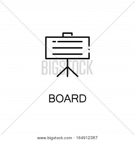Board flat icon. Single high quality outline symbol of education for web design or mobile app. Thin line signs of Board for design logo, visit card, etc. Outline pictogram of Board