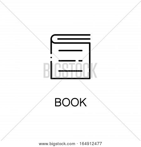 School book flat icon. Single high quality outline symbol of education for web design or mobile app. Thin line signs of School book for design logo, visit card, etc. Outline pictogram of School book