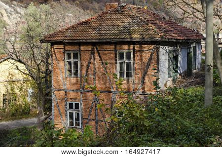 Traditional house with old  ancient  construction in Lakatnik, Bulgaria
