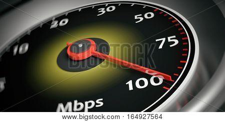 3D Rendering Internet Speed Meter