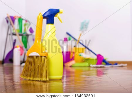 Cleaning Products On The Floor