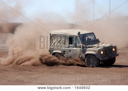 Land Rover In Rally Action