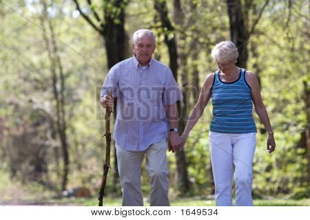Senior Couple Walking