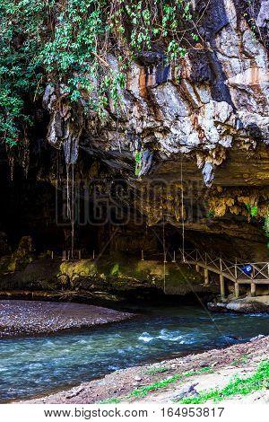 Limestone Cave Tarn Lod Yai At Mae Hong Son
