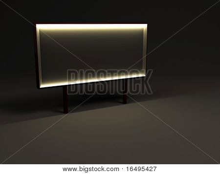 nighttime advertising billboard with blank space