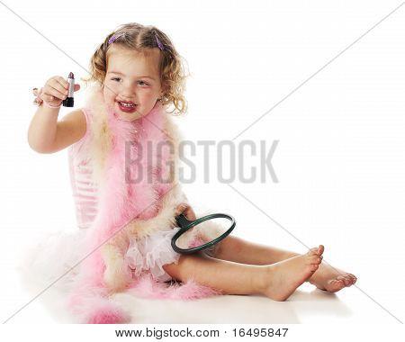 Preschooler With Lipstick
